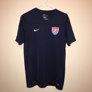 Nike Dry Fit Blue Men's Soccer Jersey Size Medium
